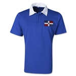 Dominican Republic Retro Flag Shirt (Royal)