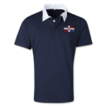 Dominican Republic Retro Flag Shirt (Navy)