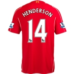 Liverpool 14/15 HENDERSON Home Soccer Jersey