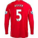 Liverpool 14/15 AGGER LS Home Soccer Jersey