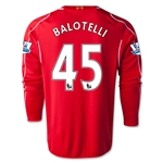 Liverpool 14/15 BALOTELLI LS Home Soccer Jersey
