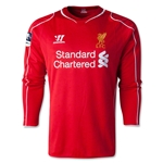 Liverpool 14/15 LS Home Soccer Jersey w/ FA Cup Badge