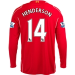 Liverpool 14/15 HENDERSON LS Home Soccer Jersey