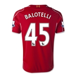 Liverpool 14/15 BALOTELLI Youth Home Soccer Jersey