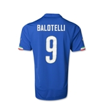 Italy 2014 Mario Balotelli Youth Home Soccer Jersey
