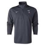 Nike US Lacrosse Dri-Fit 1/4 Zip Training Top