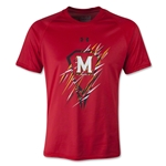 Under Armour Maryland Lacrosse Youth Tech T-Shirt (Red)