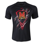 Under Armour Maryland Lacrosse Tech T-Shirt (Black)