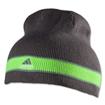 adidas Stagger Reversible Beanie (Gray/Green)
