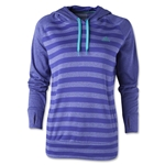 adidas Women's Ultimate Fleece Striped Hoody (Purple)