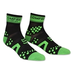 Compressport Racing Sock V2 Run High Cut (Blk/Green)