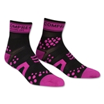 Compressport Racing Sock V2 Run High Cut Sock (Black/Pink)