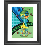 Britto World Trophy Framed Print 16 x 24