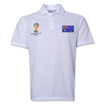 Australia 2014 FIFA World Cup Polo (White)
