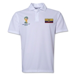 Ecuador 2014 FIFA World Cup Polo (White)