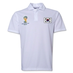 South Korea 2014 FIFA World Cup Polo (White)