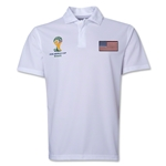 USA 2014 FIFA World Cup Polo (White)