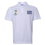 Greece 2014 FIFA World Cup Polo (White)
