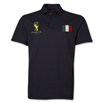 Italy 2014 FIFA World Cup Polo (Black)