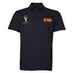 Spain 2014 FIFA World Cup Polo (Black)