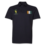 Cote d'Ivoire 2014 FIFA World Cup Polo (Black)