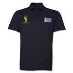Greece 2014 FIFA World Cup Polo (Black)