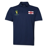 England 2014 FIFA World Cup Polo (Navy)