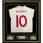 Wayne Rooney Signed and Framed England Jersey