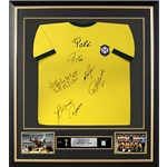 Brazil 1970 National Team Signed and Framed Jersey