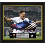 Steven Gerrard Signed and Framed England Cleat