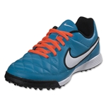 Nike Tiempo Genio Leather TF Junior (Neo Turquoise/White)