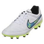 Nike Tiempo Genio Leather FG (White/Volt/Soar)
