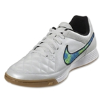 Nike Tiempo Genio Leather IC (White/Volt/Soar)