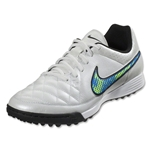 Nike Tiempo Genio Leather TF (White/Volt/Soar)