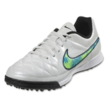Nike Junior Tiempo Genio Leather TF (White/Volt/Soar)
