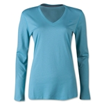 Nike Women's V-Neck Legend Long Sleeve T-Shirt (Blue)