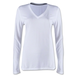 Nike Women's V-Neck Legend Long Sleeve T-Shirt (White)