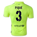 Barcelona 14/15 PIQUE Authentic Third Soccer Jersey