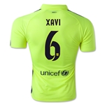 Barcelona 14/15 XAVI Authentic Third Soccer Jersey