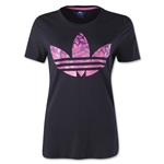 adidas Originals Women's Trefoil Logo T-Shirt (Black/Pink)