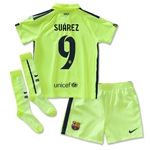 Barcelona 14/15 SUAREZ Third Boys Kit