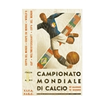 1934 FIFA World Cup Italy Poster Bamboo Wood Print