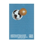 1962 FIFA World Cup Chile Poster Bamboo Wood Print