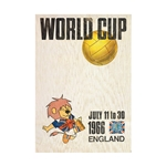 1966 FIFA World Cup England Poster Bamboo Wood Print