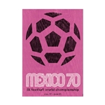 1970 FIFA World Cup Mexico Poster Bamboo Wood Print