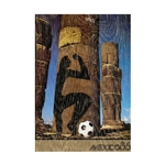 1986 FIFA World Cup Mexico Poster Bamboo Wood Print