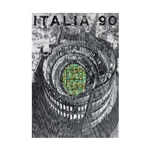 1990 FIFA World Cup Italy Poster Bamboo Wood Print