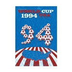 1994 FIFA World Cup USA Commemorative Poster Bamboo Wood Print