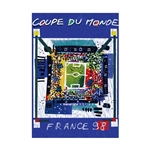 1998 FIFA World Cup France Poster Bamboo Wood