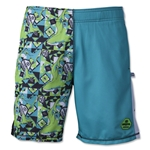 Wreckless Lacrosse Daredevil Shark 2-Tone Short (Turquoise)